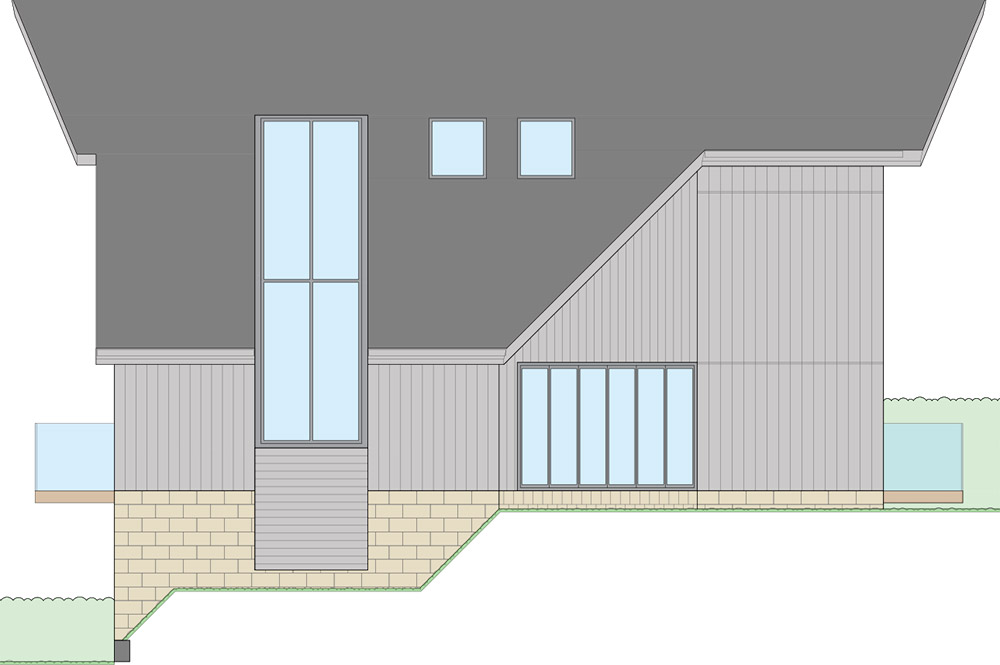 3d render showing outside building